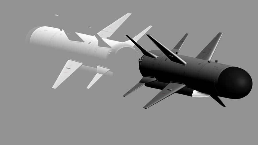 Kh-35 royalty-free 3d model - Preview no. 7