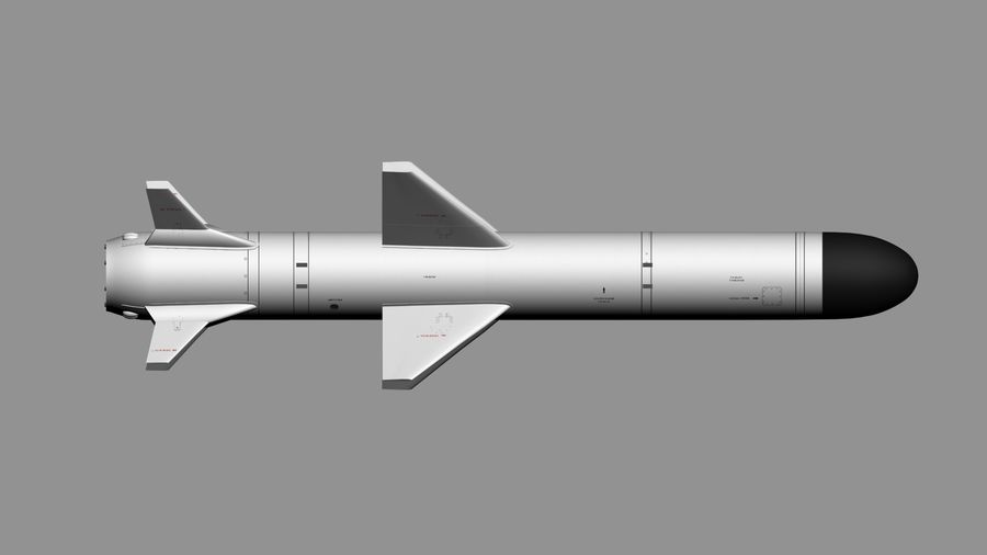 Kh-35 royalty-free 3d model - Preview no. 8