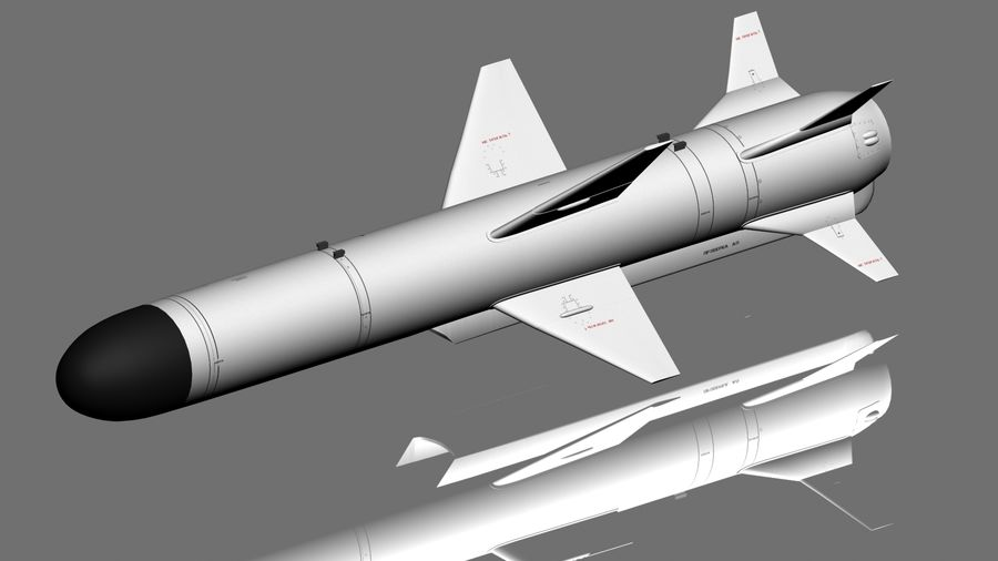 Kh-35 royalty-free 3d model - Preview no. 2