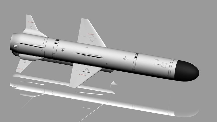 Kh-35 royalty-free 3d model - Preview no. 1