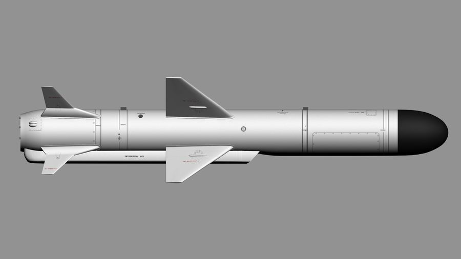 Kh-35 royalty-free 3d model - Preview no. 3