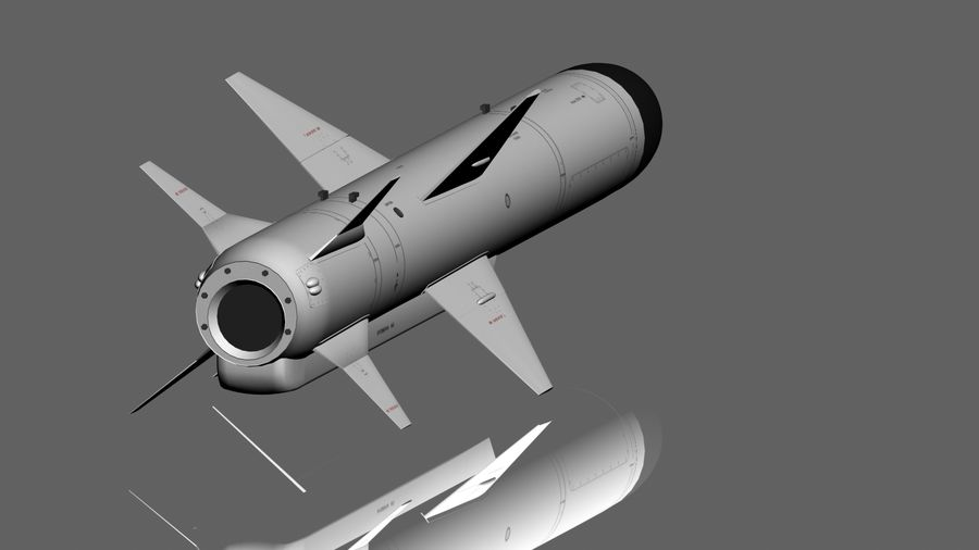 Kh-35 royalty-free 3d model - Preview no. 4