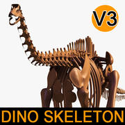 Dino skeleton / Diplodocus / with separate bones 3d model