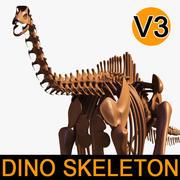 Dino-Skelett / Diplodocus / mit getrennten Knochen 3d model