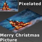 Pixel Frohe Weihnachten 02 3d model