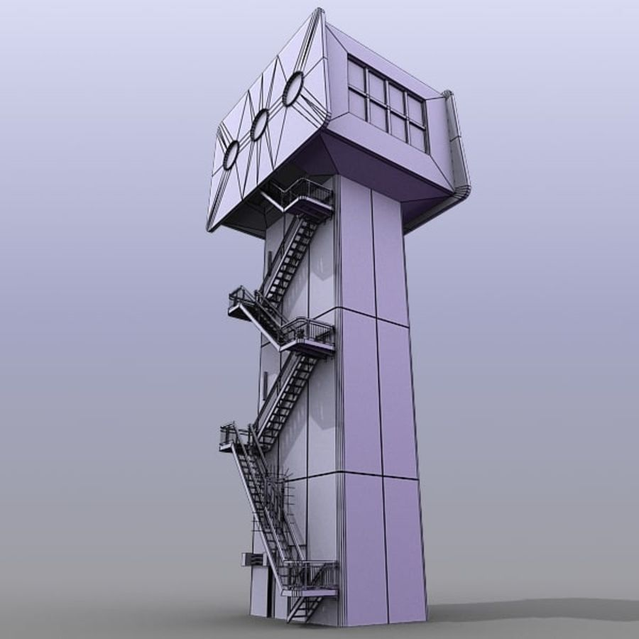 River Traffic Ctrl Tower royalty-free 3d model - Preview no. 3