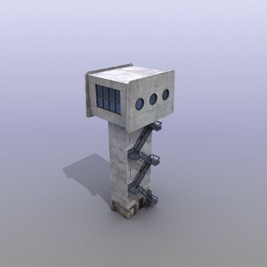 River Traffic Ctrl Tower royalty-free 3d model - Preview no. 12