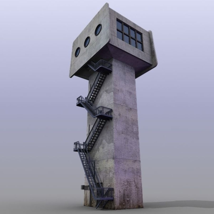 River Traffic Ctrl Tower royalty-free 3d model - Preview no. 2