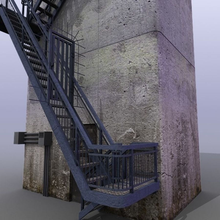 River Traffic Ctrl Tower royalty-free 3d model - Preview no. 6