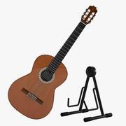 Acoustic Guitar Kit 3d model