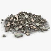 Stone Rock Debris Skräp skräp (2) 3d model
