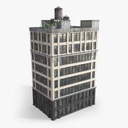 Edificio Residencial Alto modelo 3d