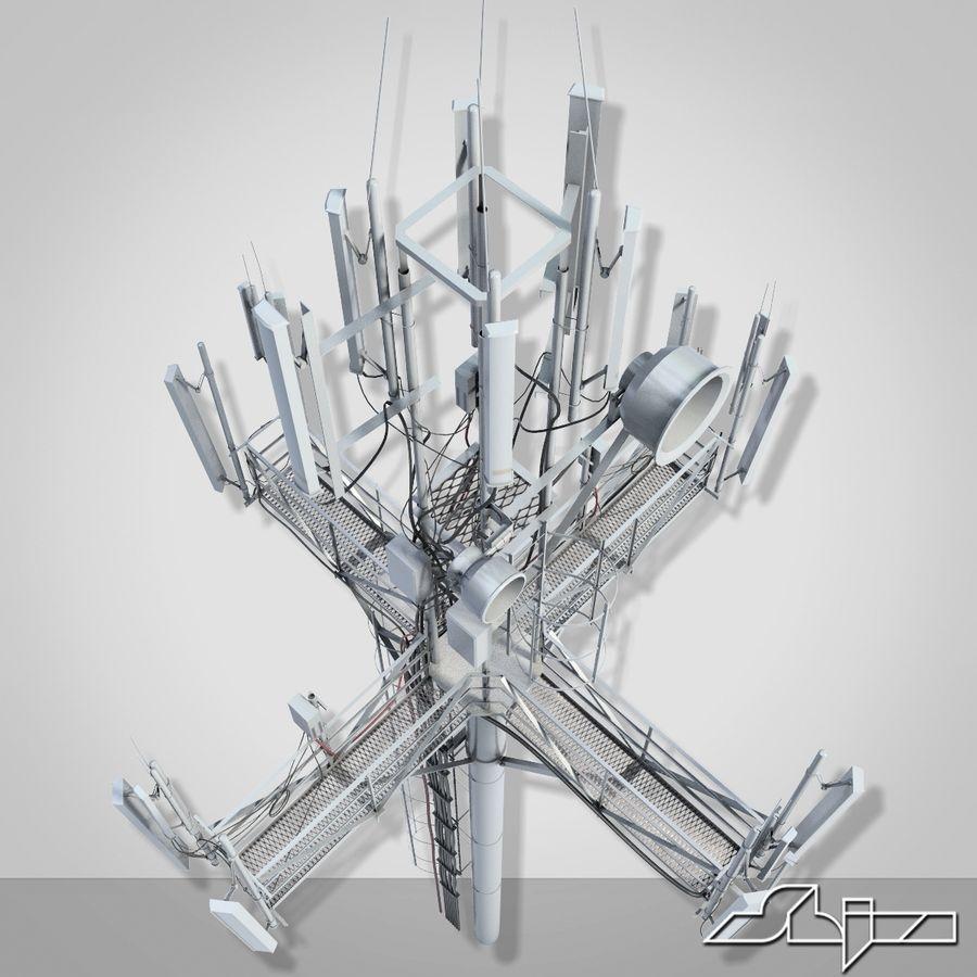 Torre de Comunicação Antena 1 royalty-free 3d model - Preview no. 7