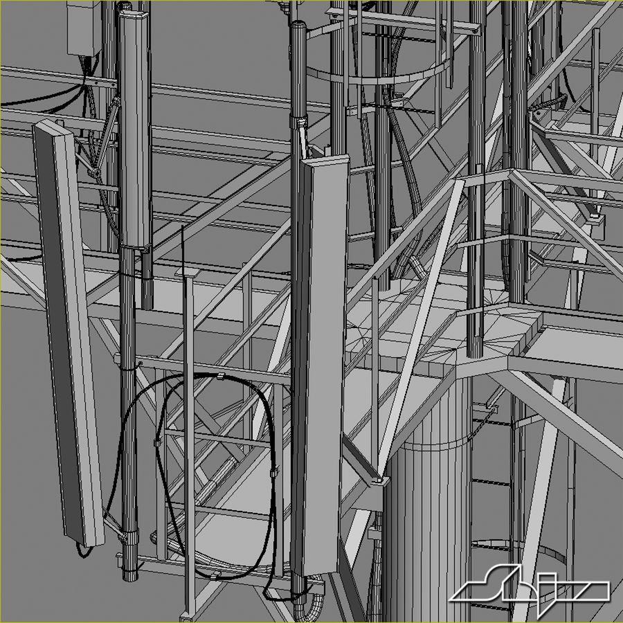 Torre de Comunicação Antena 1 royalty-free 3d model - Preview no. 16