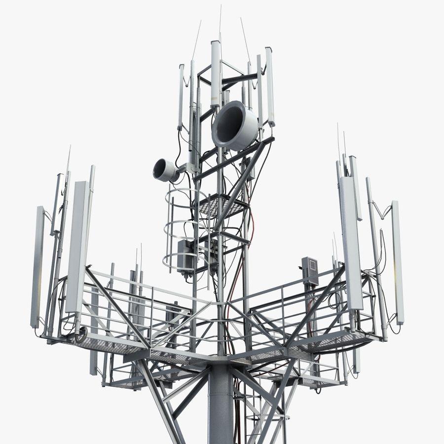 Torre de Comunicação Antena 1 royalty-free 3d model - Preview no. 1