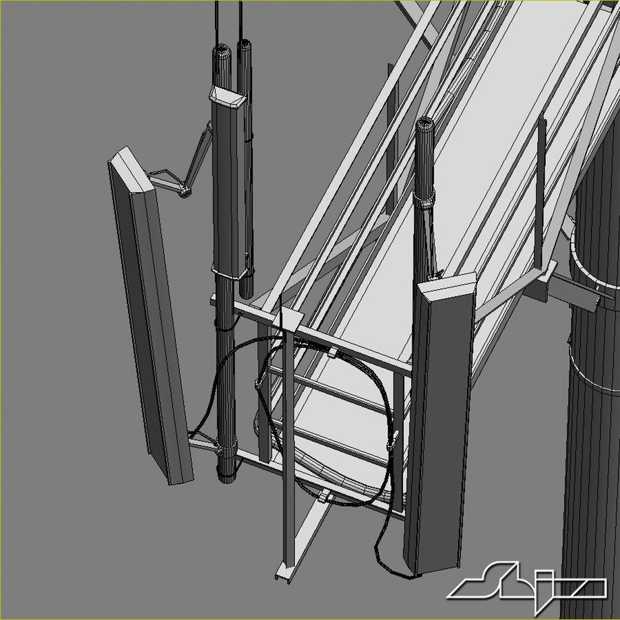 Torre de Comunicação Antena 1 royalty-free 3d model - Preview no. 17