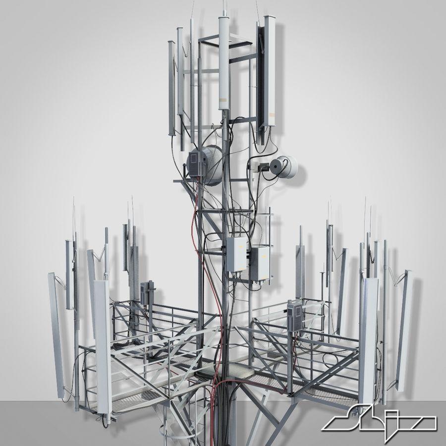 Torre de Comunicação Antena 1 royalty-free 3d model - Preview no. 5
