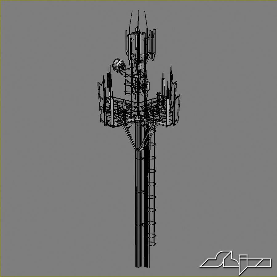 Torre de Comunicação Antena 1 royalty-free 3d model - Preview no. 12