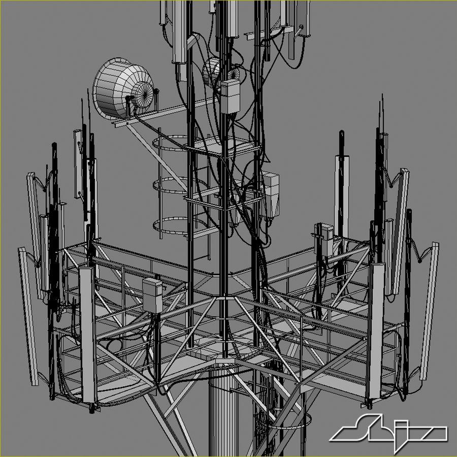 Torre de Comunicação Antena 1 royalty-free 3d model - Preview no. 13