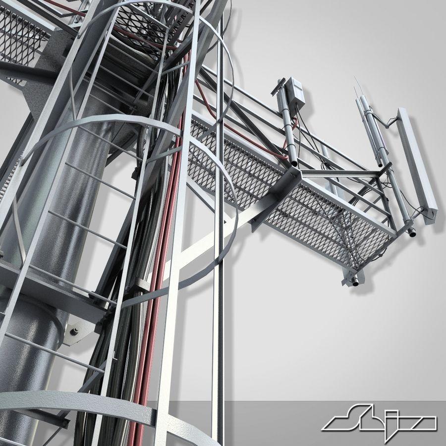 Torre de Comunicação Antena 1 royalty-free 3d model - Preview no. 8