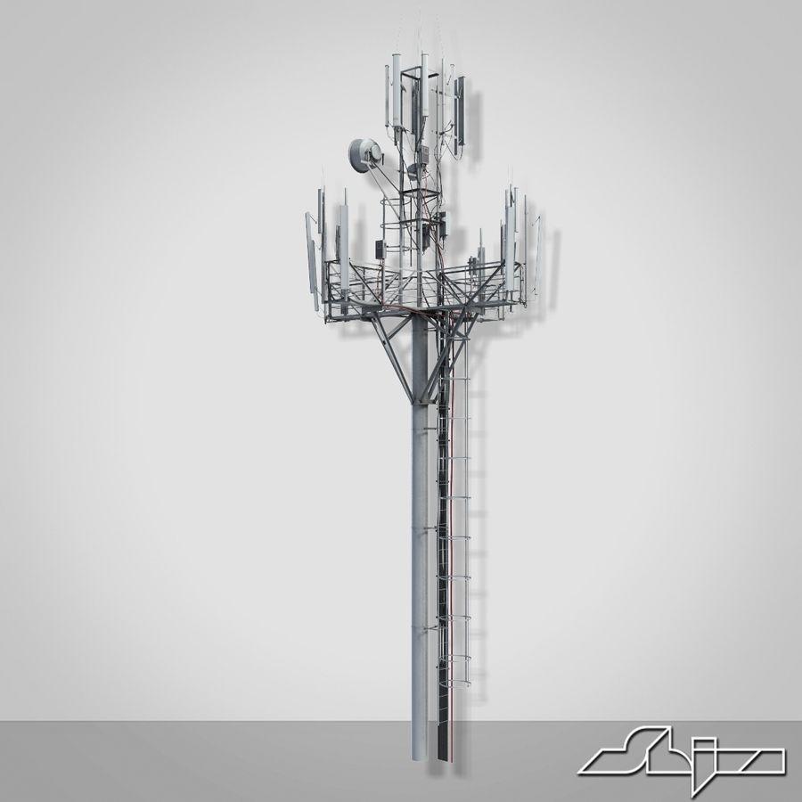 Torre de Comunicação Antena 1 royalty-free 3d model - Preview no. 3