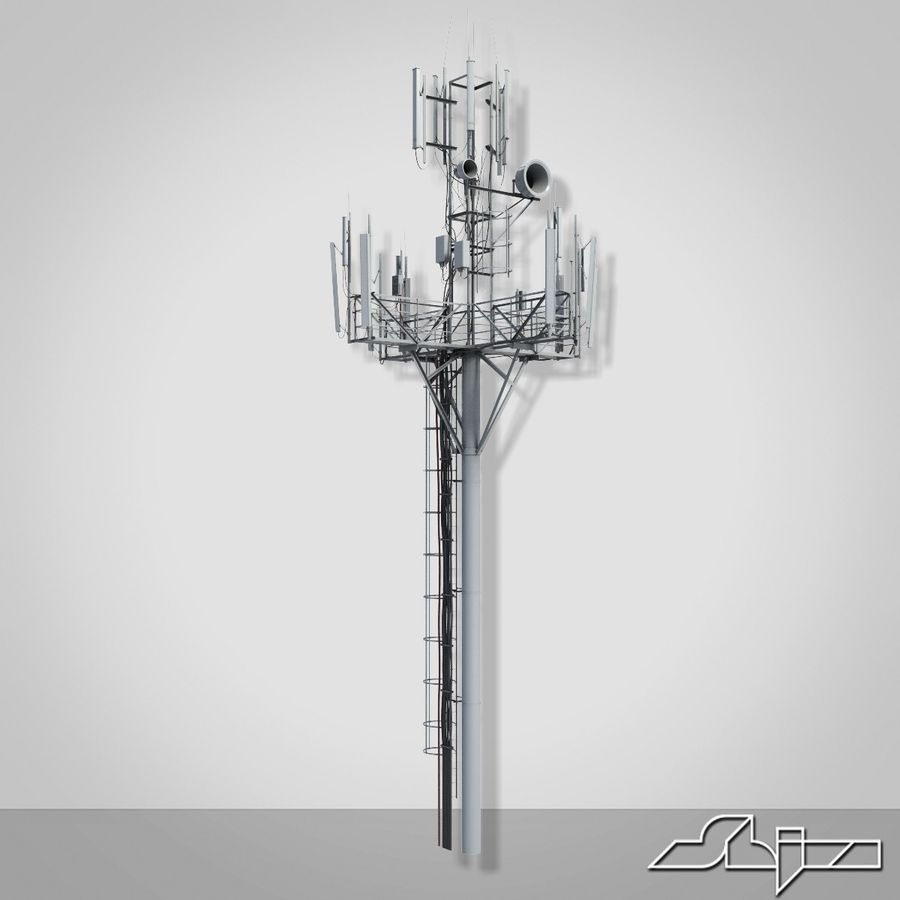 Communication Tower Antena 1 royalty-free 3d model - Preview no. 11