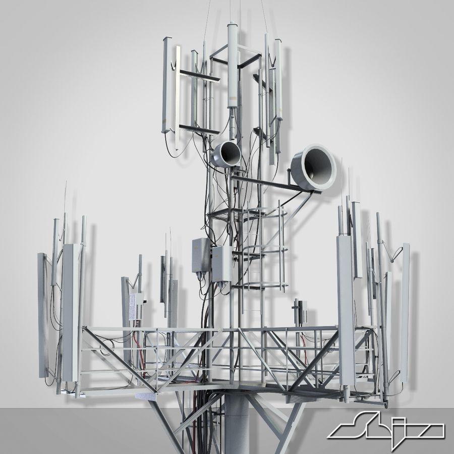 Torre de Comunicação Antena 1 royalty-free 3d model - Preview no. 6