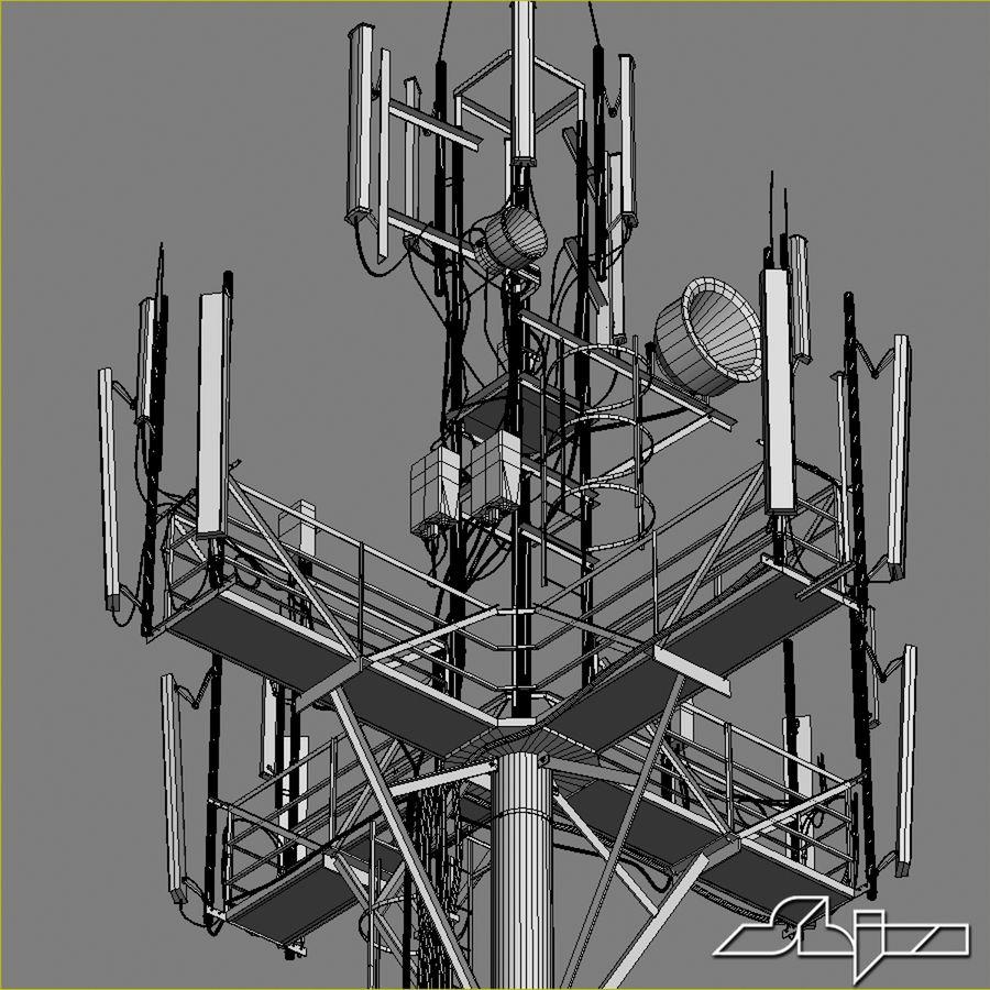 Torre de Comunicação Antena 1 royalty-free 3d model - Preview no. 14