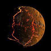 Gebarsten planetoid collectie 3d model