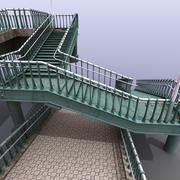 Groene voetgangersbrug 3d model