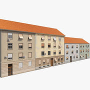 Facciate di edifici europei 3 3d model