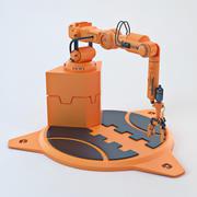 Braço de robô industrial 04 3d model