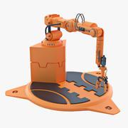Industrial Robot Arm 04 3d model