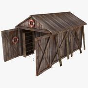 Strukturerat träplankagarage 3d model