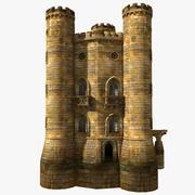 Castello medievale - Torre gialla 3d model