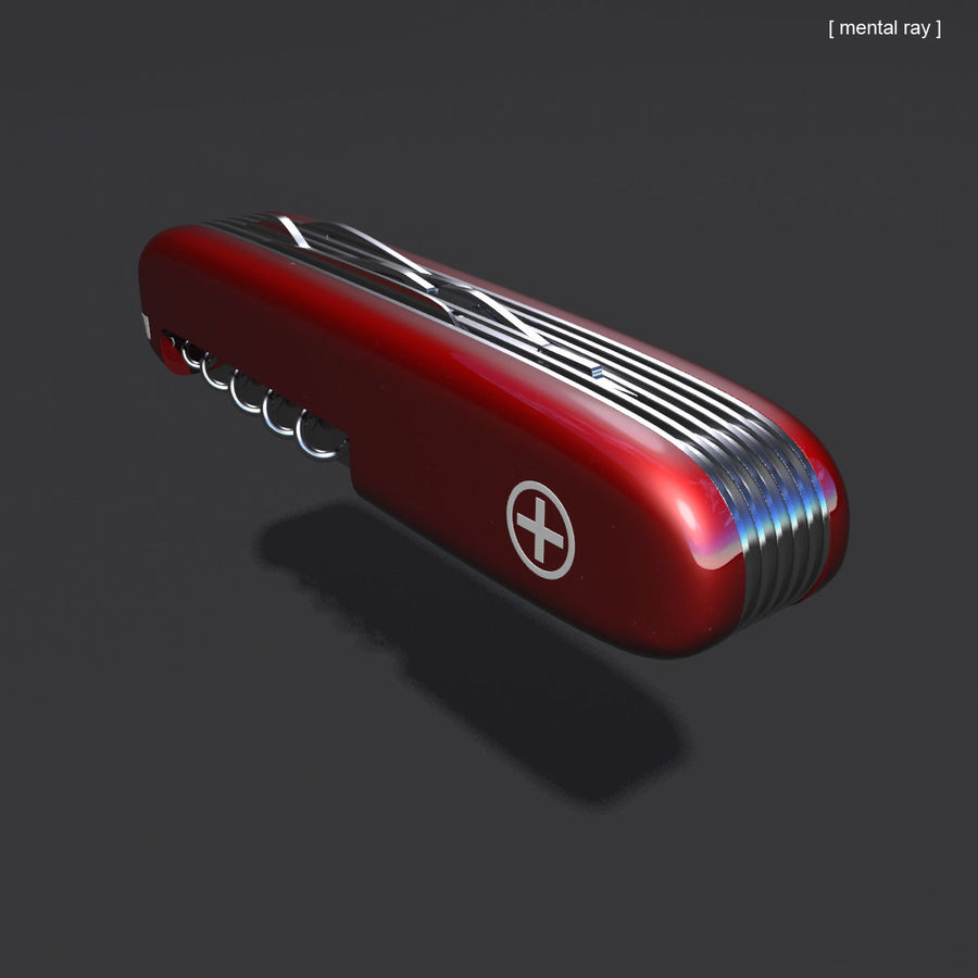 Swiss Army Knife royalty-free 3d model - Preview no. 8