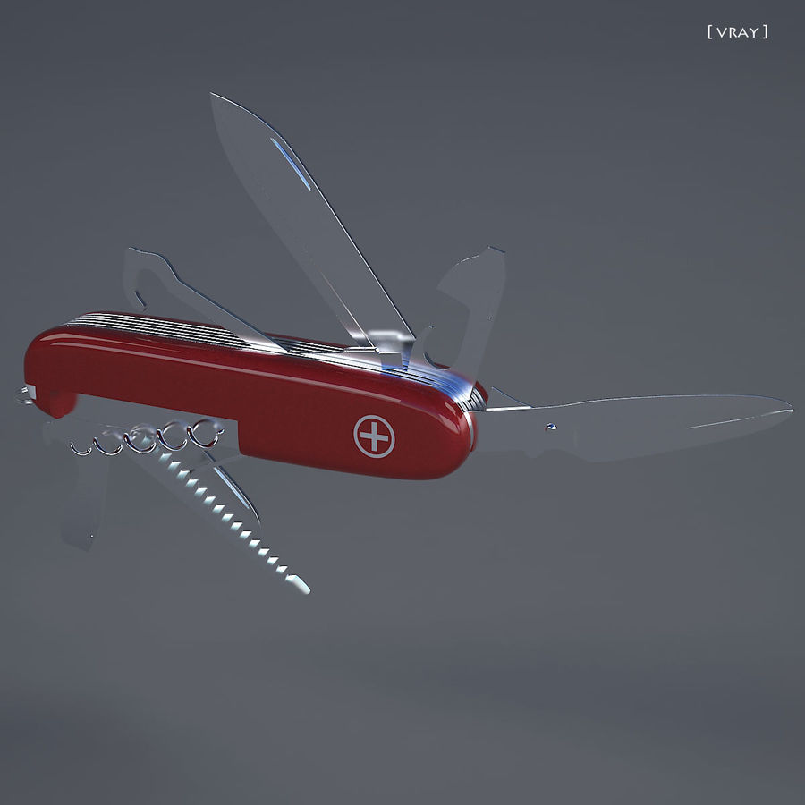 Swiss Army Knife royalty-free 3d model - Preview no. 3