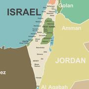 Israel und Nachbarn Karte 3d model