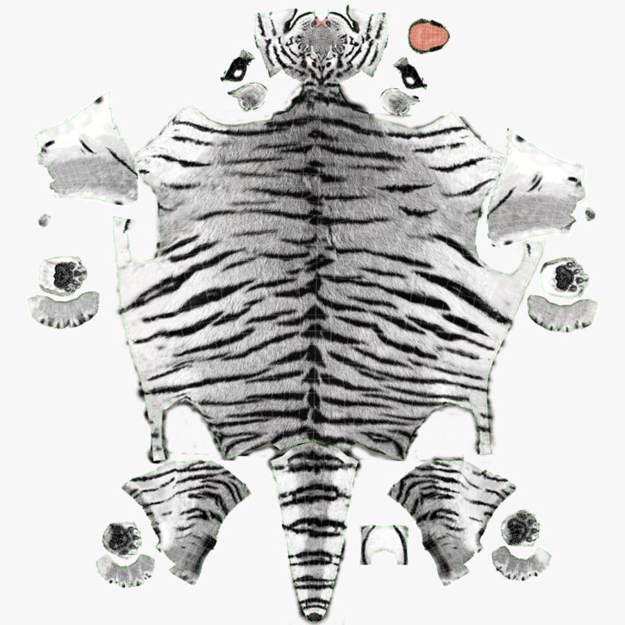 Tigre Branco (Pele) royalty-free 3d model - Preview no. 25
