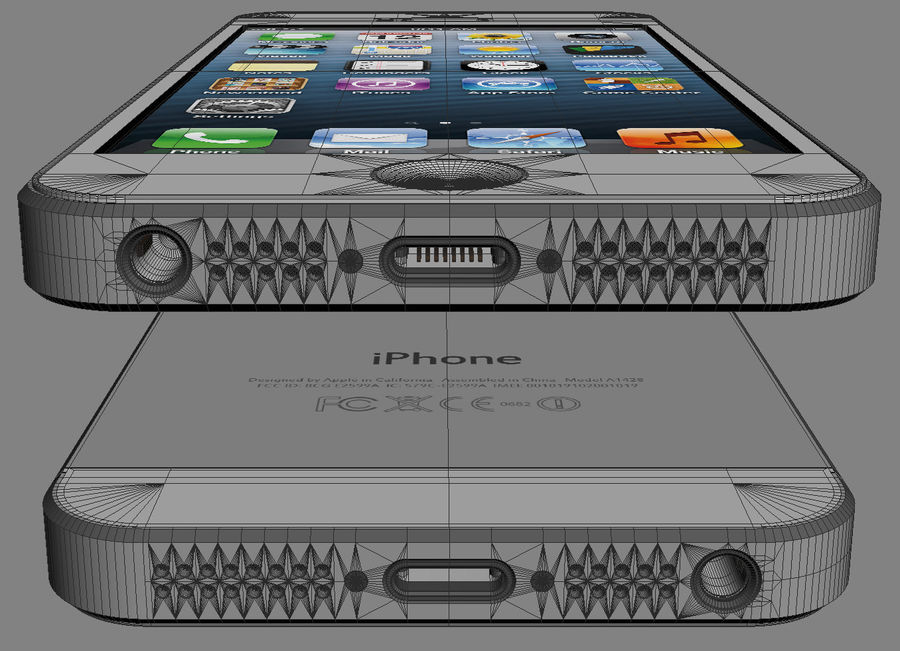 Apple Electronics Collection 2013 v1 royalty-free 3d model - Preview no. 23