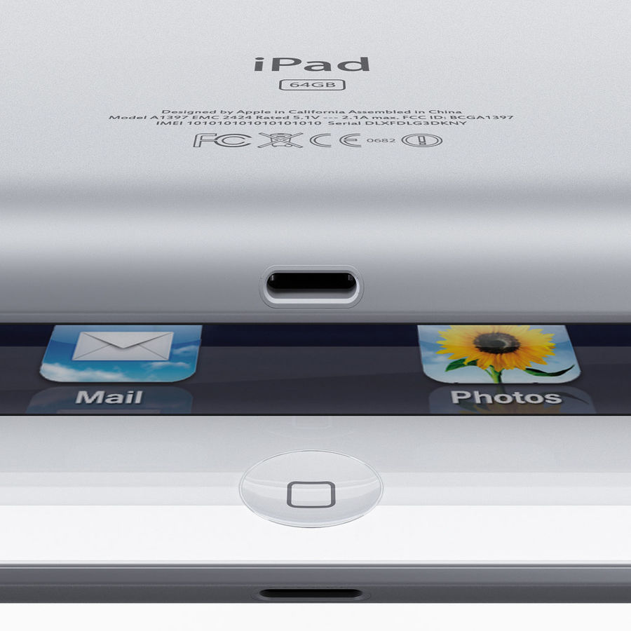 Apple Electronics Collection 2013 v1 royalty-free 3d model - Preview no. 50