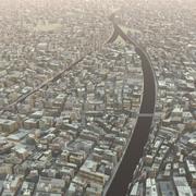 Органический город 3d model