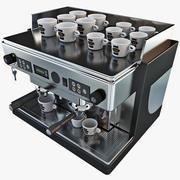 Kommersiell kaffemaskin 3d model
