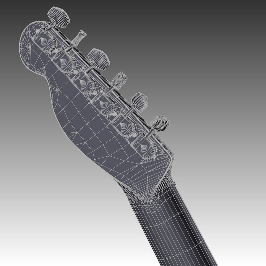 Telecaster Collection royalty-free 3d model - Preview no. 13