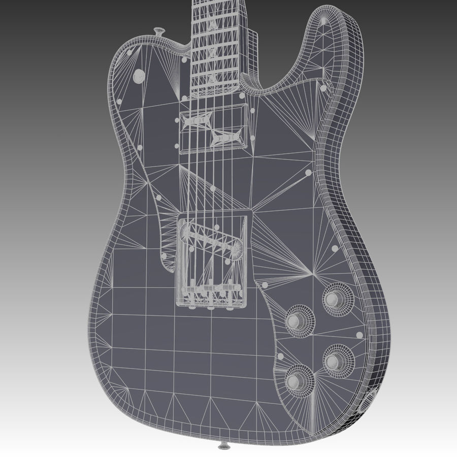 Telecaster Collection royalty-free 3d model - Preview no. 23