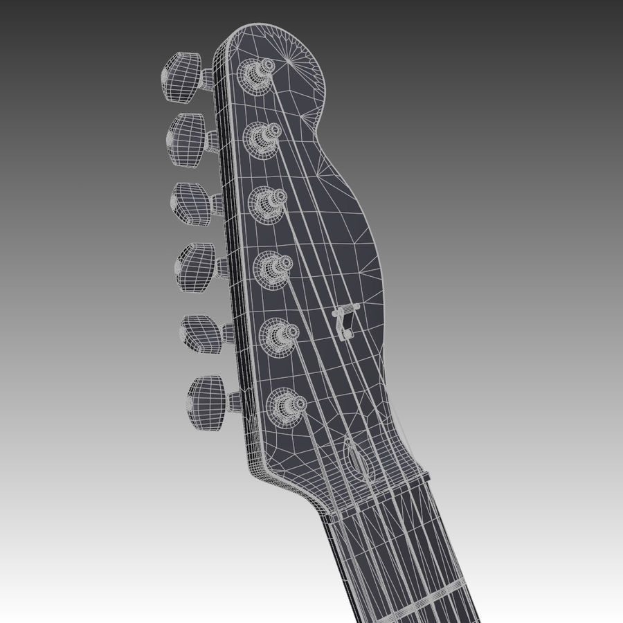 Telecaster Collection royalty-free 3d model - Preview no. 38