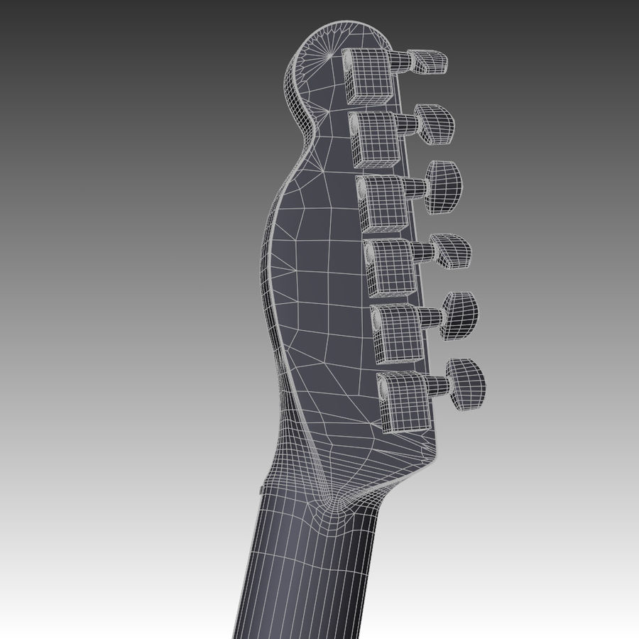 Telecaster Collection royalty-free 3d model - Preview no. 37