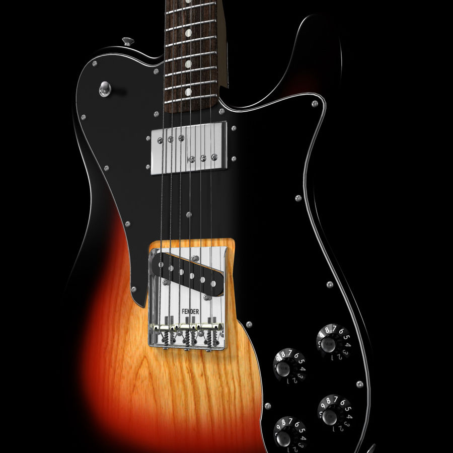 Telecaster Collection royalty-free 3d model - Preview no. 20