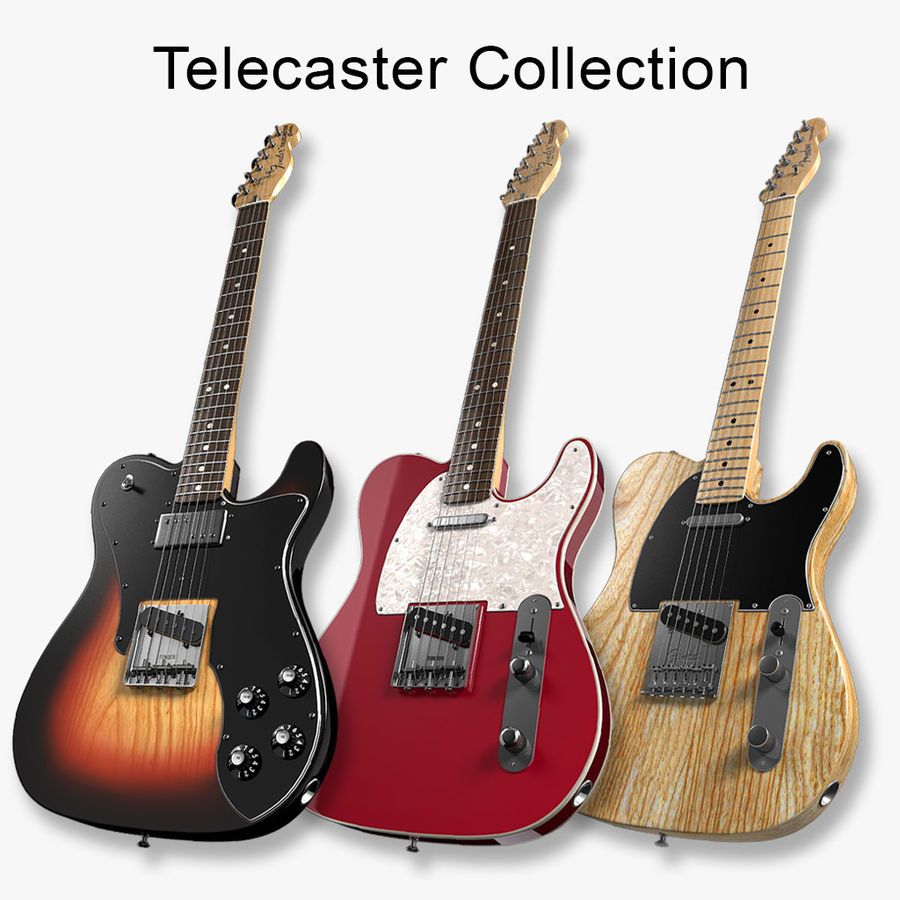 Telecaster Collection royalty-free 3d model - Preview no. 1