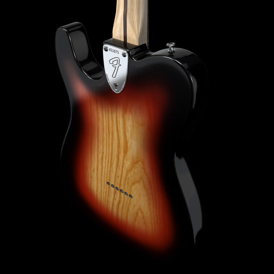 Telecaster Collection royalty-free 3d model - Preview no. 18